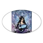 Sapphire Dragon Fairy Gothic Fantasy Art Sticker