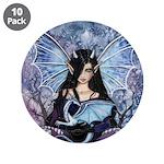 Sapphire Dragon Fairy Gothic Fantasy Art 3.5