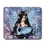 Sapphire Dragon Fairy Gothic Fantasy Art Mousepad