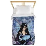 Sapphire Dragon Fairy Gothic Fantasy Art Twin Duve