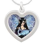 Sapphire Dragon Fairy Gothic Fantasy Art Necklaces