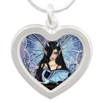Sapphire Dragon Fairy Gothic Fantasy Art Necklaces