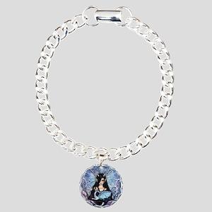 Sapphire Dragon Fairy Gothic Fantasy Art Bracelet