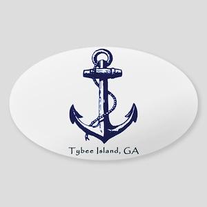 Tybee Island Ship Anchor Sticker