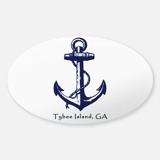 Tybee Island Ship Anchor Decal
