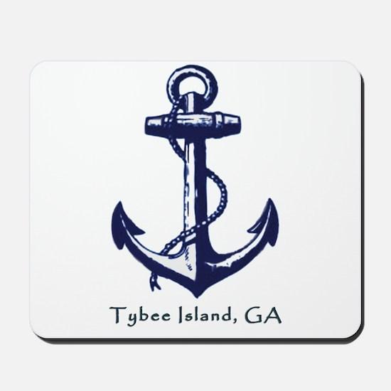 Tybee Island Ship Anchor Mousepad
