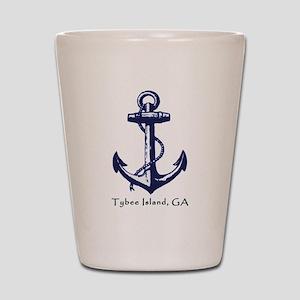 Tybee Island,ga Ship Anchor Shot Glass