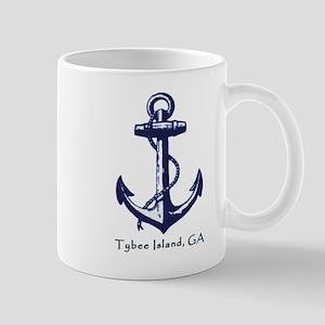 Tybee Island,ga Beach Ship Anchor Coffee Mug Mugs