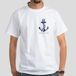 Tybee Island,ga Ship Anchor T-Shirt