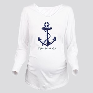 Tybee Island Ship Anchor Long Sleeve Maternity T-S