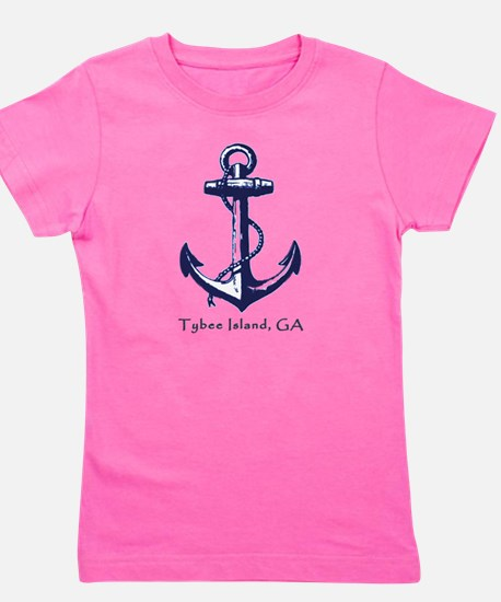 Tybee Island Ship Anchor Girl's Tee