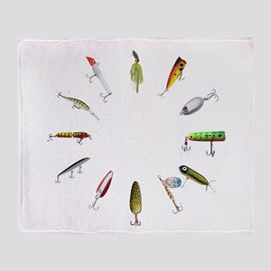 Fishing Lure Throw Blanket