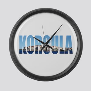 Korcula Large Wall Clock