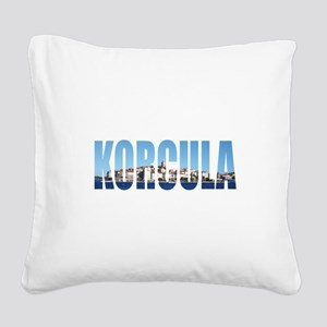 Korcula Square Canvas Pillow