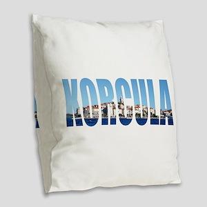 Korcula Burlap Throw Pillow