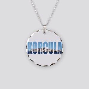 Korcula Necklace Circle Charm
