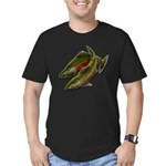 Save Our Salmon Men's Fitted T-Shirt (dark)