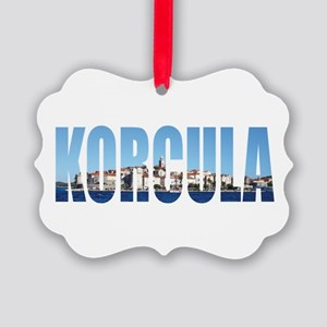 Korcula Picture Ornament