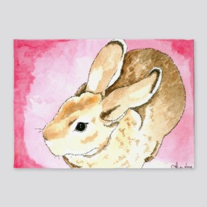 Daily Doodle 1 Red Mini Rex 5'x7'Area Rug
