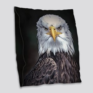 Bald Eagle Burlap Throw Pillow