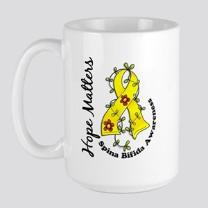 Spina Bifida FlowerRibbon1.3 Large Mug
