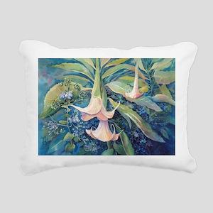 Angels Trumpets II Rectangular Canvas Pillow