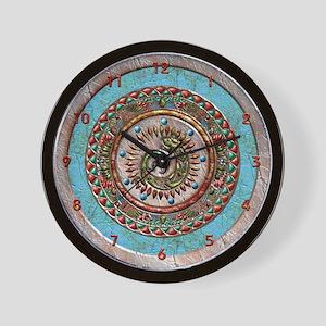 Harvest Moons Gecko Mandala Wall Clock