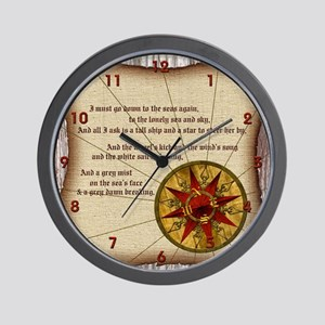 Harvest Moons Compass Rose Wall Clock