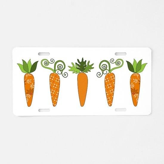 Carrots Aluminum License Plate