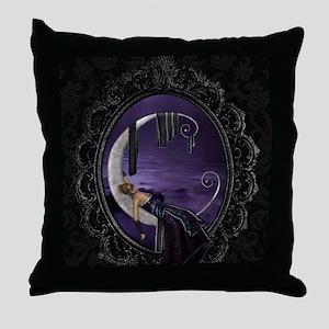 Sleeping Moon Throw Pillow