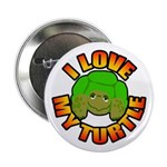 100 Pack - I Love My Turtle Buttons