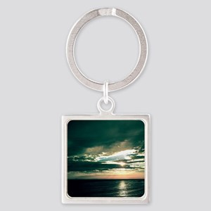 Ocean Twilight Time Square Keychain