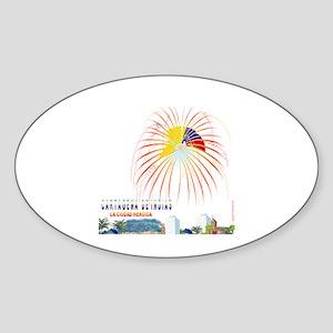 Cartagena Oval Sticker