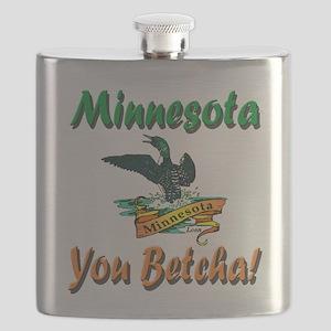 Minnesota You Betcha Flask