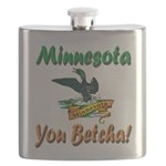 Minnesota You Betcha Flask
