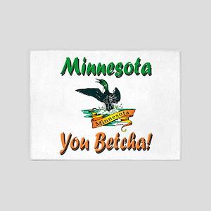 Minnesota You Betcha 5'x7'area Rug