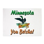 Minnesota You Betcha 5'x7'area Rug