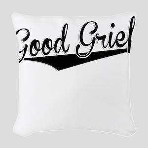 Good Grief, Retro, Woven Throw Pillow