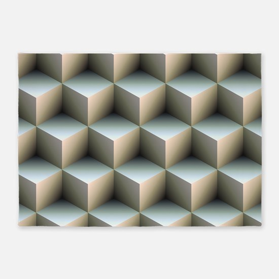 Ambient Cubes 5'x7'Area Rug