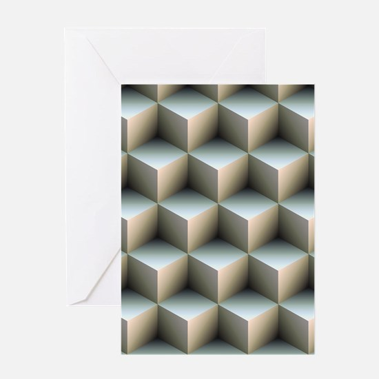 Ambient Cubes Greeting Cards