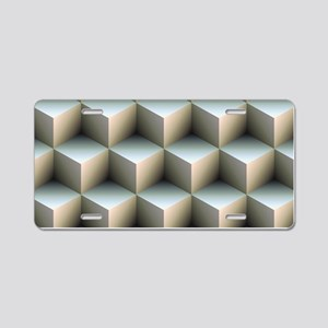 Ambient Cubes Aluminum License Plate
