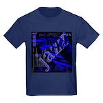 Jazz Blue on Blue Kids Dark T-Shirt