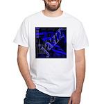 Jazz Blue on Blue White T-Shirt