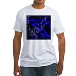 Jazz Blue on Blue Fitted T-Shirt
