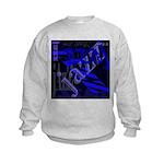 Jazz Blue on Blue Kids Sweatshirt