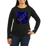 Jazz Blue on Blue Women's Long Sleeve Dark T-Shirt