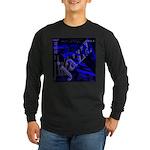 Jazz Blue on Blue Long Sleeve Dark T-Shirt