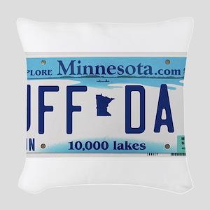 """Minnesota """"Uffda"""" Woven Throw Pillow"""