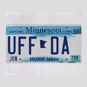 "Minnesota ""Uffda"" Throw Blanket"