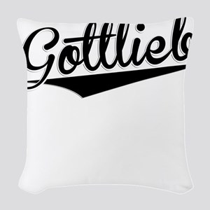 Gottlieb, Retro, Woven Throw Pillow